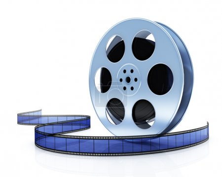 Film reel Isolated on white background.