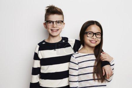 friends kids standing in studio