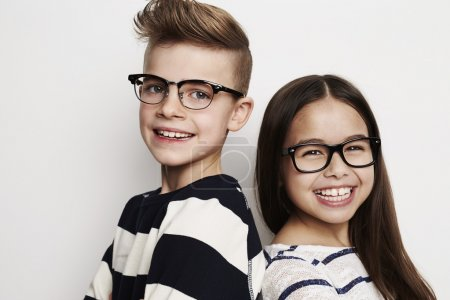Photo for Best friends kids standing in studio, portrait - Royalty Free Image