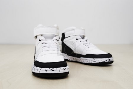 cool sneakers in studio