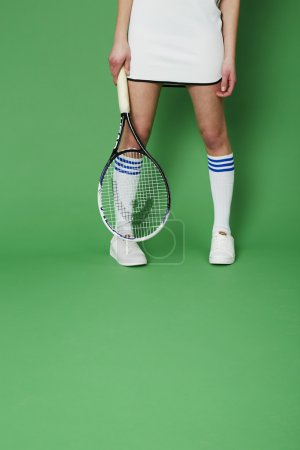 Low section of tennis player