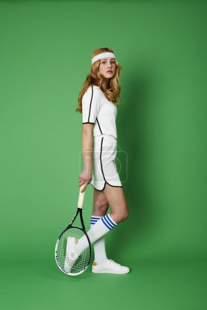 Portrait of young tennis player