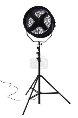 Electric fan against white