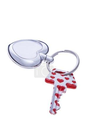 Heart covered key