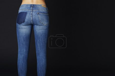 Young woman tight jeans