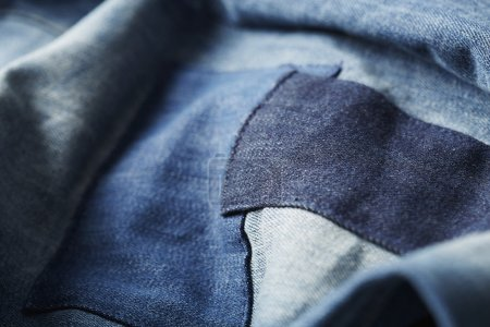 Patch worked denim jeans