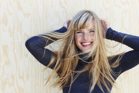 Gorgeous windswept blond