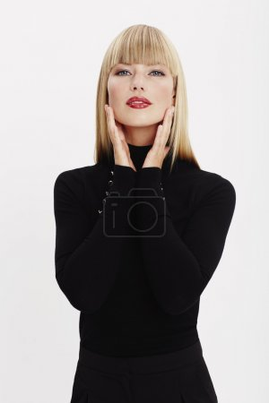 Photo for Fashion model in black clothing, portrait - Royalty Free Image