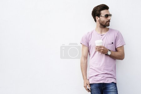 Young guy posing