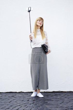 Beautiful model in culottes