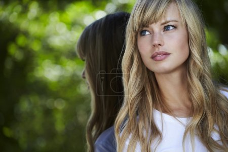 Beautiful young blond model