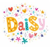 Daisy girls name lettering design