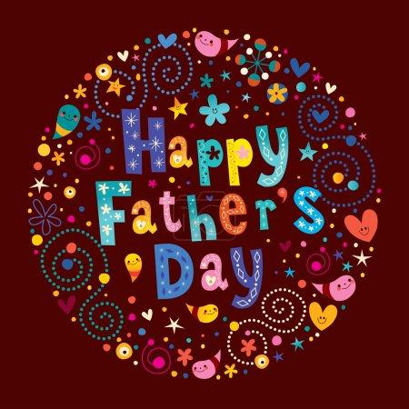 Illustration pour Happy Fathers Day conception de la carte de voeux - image libre de droit