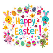 Cute Happy Easter greeting card