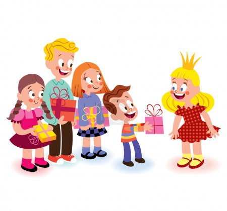 Illustration for Birthday kids. Vector illustration - Royalty Free Image