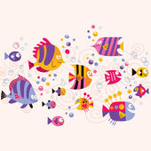 Fish pattern Vector illustration