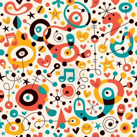 Fun cartoon pattern