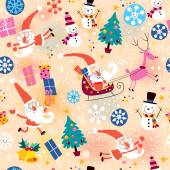 Christmas pattern Vector illustration
