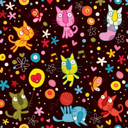 Cute kittens pattern