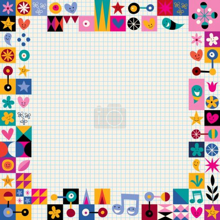 Illustration for Retro style decorative border. Vector illustration - Royalty Free Image
