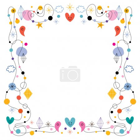 Illustration for Abstract art cute frame. Vector illustration - Royalty Free Image