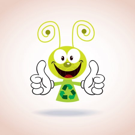 Illustration for Recycle mascot cartoon character. Vector illustration - Royalty Free Image