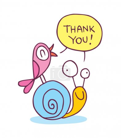 Illustration for Thank you card. Vector illustration - Royalty Free Image
