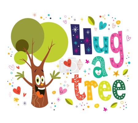 Hug a tree illustration