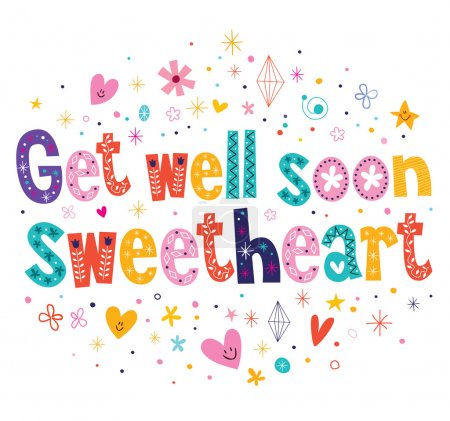 Get well soon sweetheart card