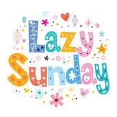 Lazy Sunday card