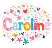 Caroline decorative type lettering design