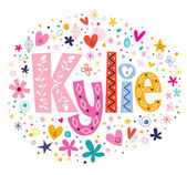Kylie female name decorative lettering type design