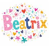 Beatrix girls name decorative lettering type design