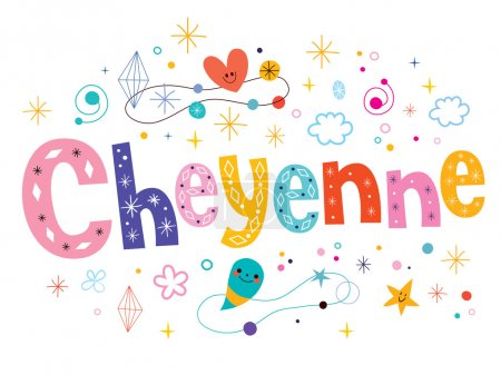 Cheyenne decorative  text design
