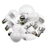 LED žárovky Gu10 a E27 s různými konektory izolované na Svatodušní
