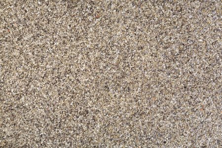 Horizontal gravel texture from quartz sand.
