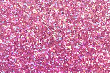 Photo pour Texture rose paillettes. - image libre de droit