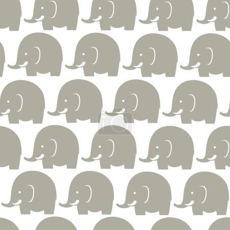 Elephants grey pattern
