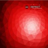Abstract Red and White polygon background in Indonesian Flag colors
