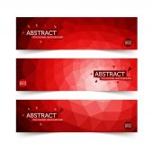 Abstract Red and White polygon Banners in Indonesian Flag colors concept Vector