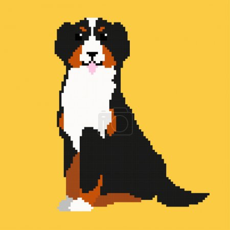 Pixel Bernese Mountain Dog