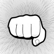 Punching hand with a clenched fist aimed directly ...