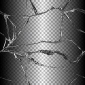 Realistic broken glass illustration