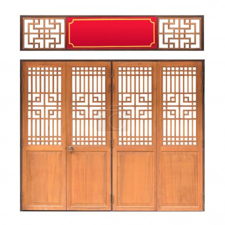 Traditional Asian window and door pattern, wood, chinese style w