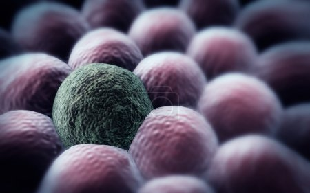 rendered cancer cell