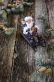 Santa claus v saních