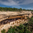Cliff Palace ruins at Mesa Verde National Park, US...