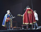 Singers Niccolo Fabi, Daniele Silvestri and Max Gazze on stage