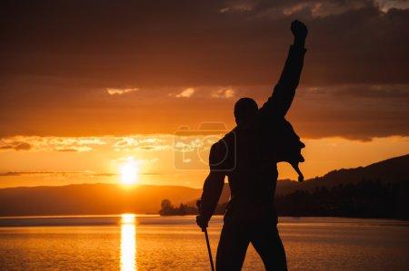 закат на Женевском озере за