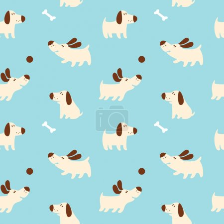 Photo for Pattern with cute dogs. For textiles, cards, decorations, wallpaper - Royalty Free Image